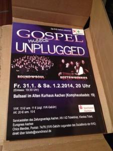 Konzertplakat Gospel meets Unplugged 2013/14