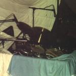 Das Schlagzeug von Uli Dannowitz  ist in trockenen Tüchern!